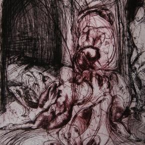 Stampa d'arte su carta per incisioni. Anno di produzione: 2012. Tecnica ad incisione calcografica mista. Dimensioni: 700mm x 500mm