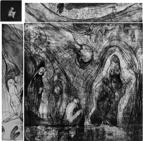 Stampa d'arte su carta per incisioni. Anno di produzione: 2017 Tecnica: ad incisione calcografica mista Dimensioni: 700mm x 1000mm