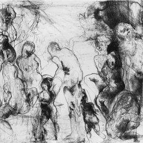 Stampa d'arte su carta per incisioni. Anno di produzione: 2012. Tecnica: Litografia su pietra. Dimensioni del foglio di stampa: 500mm x 350mm